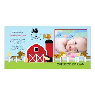 Farm Animals PHOTO Birth Announcement
