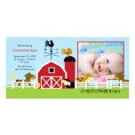 Farm Animals PHOTO Birth Announcement Photo Card