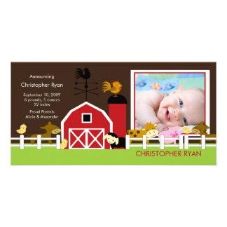 Farm Animals PHOTO Birth Announcement Personalized Photo Card