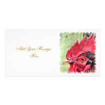 FARM ANIMALS, ROOSTER CARD