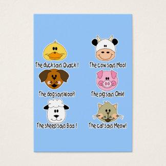 Farm Animals Sounds Business Card