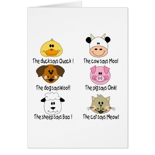 Farm Animals Sounds Card