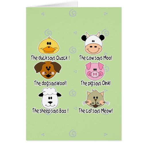 Farm Animals Sounds Greeting Card
