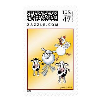 Farm animals stamps. postage
