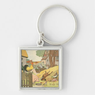 Farm Animals Story Book Illustrated Keychain