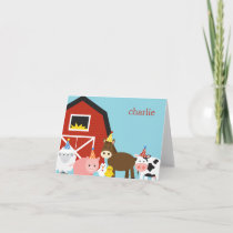 Farm Animals Thank You Card