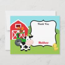 Farm Animals Thank You Card