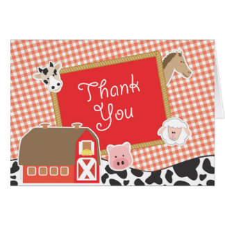 Farm Animals Thank You Cards