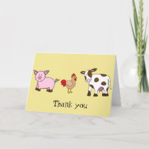 Farm Animals, Thank you note