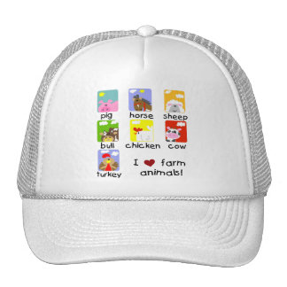 Farm Animals Tshirts and Gifts Trucker Hat
