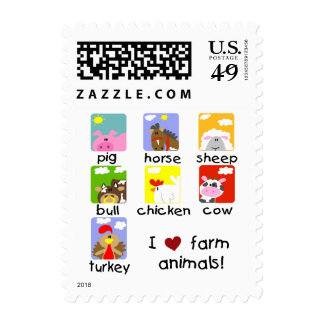 Farm Animals Tshirts and Gifts Postage