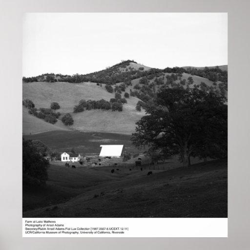 Farm at Lake Matthews by Ansel Adams Print