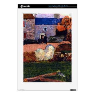 Farm at the Pouldu by Eugène Henri Paul Gauguin Skins For PS3 Console