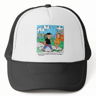 Farm ATV /Tractor Cartoon Trucker Hat