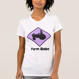 Farm Babe Lilac Fitted T Shirt