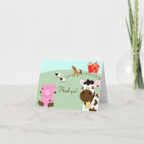 Farm Babies Barnyard Folded Thank you notes
