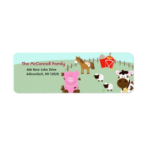 farm babies barnyard printable address labels zazzle With farm address labels
