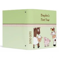 Farm Babies Farm Animal Baby Photo Album Scrapbook Binder