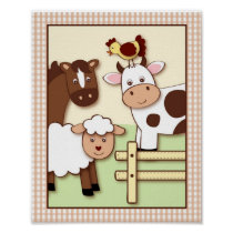Farm Babies Farm Animal Nursery Wall Art Print