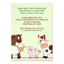 Farm Babies Farm Animals Birthday Invitations