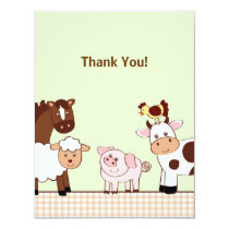 Farm Babies Farm Animals Thank You Note Cards