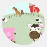 Farm Babies Farm Yard Envelope Seals Classic Round Sticker