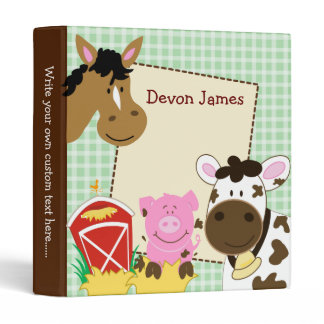 Farm Babies Horse, Pig and Cow Binder