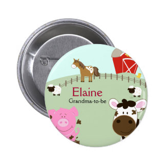 Farm Babies NAME TAG Personalized Button