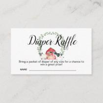 Farm Baby Shower Diaper Raffle Card Insert