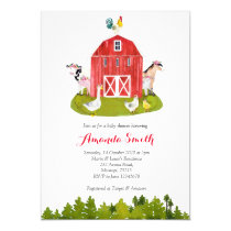 Farm Baby Shower Invitation