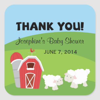 Farm Baby Shower Thank You Stickers