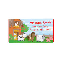 Farm Barn Animals Birthday Party Address Labels