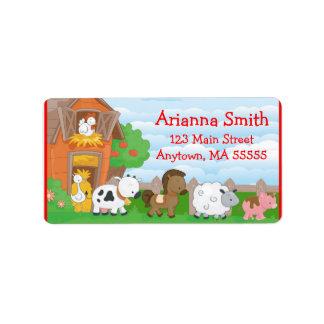 Farm Theme Shipping Address Amp Return Address Labels Zazzle