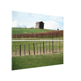 farm barn fence canvas print