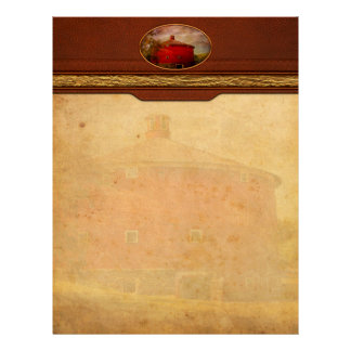 Farm - Barn - Red round barn Custom Letterhead