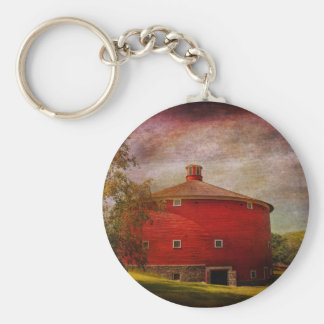 Farm - Barn - Red round barn Key Chain