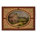 Farm - Barn - The old gray barn Card