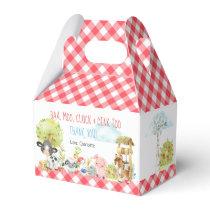 Farm Barnyard Animal Birthday Favor Box