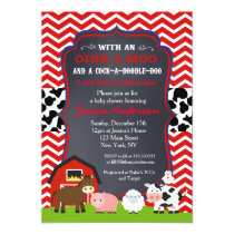 Farm Barnyard Baby Shower Invitations