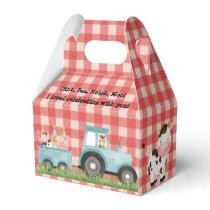 Farm Barnyard Birthday Party Favor Box