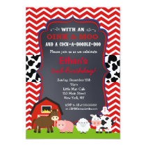 Farm Barnyard Birthday Party Invitations