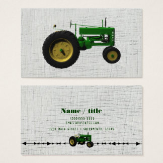 Farm Barnyard Tractor Rustic Country White Wood Business Card