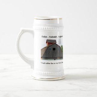Farm Beer Stein Coffee Mug
