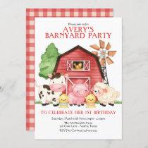 Farm Birthday Invitation, Barnyard Birthday Invitation