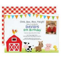 Farm Birthday Invitation Barnyard Party