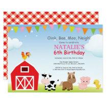 Farm Birthday Invitation Country Barnyard Party