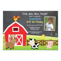 Farm Birthday Invitation Country Barnyard Party