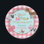 "Farm Birthday Paper Plate 7&quot; Old MacDonald Party<br><div class=""desc"">Farm Birthday Party 7&quot; Paper Plate. 