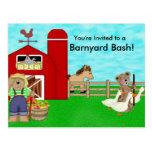Farm Birthday Party Postcard