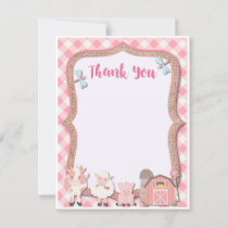Farm Birthday Thank You Card